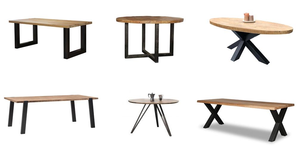 eettafels-stalen-poten-houten-tafelblad