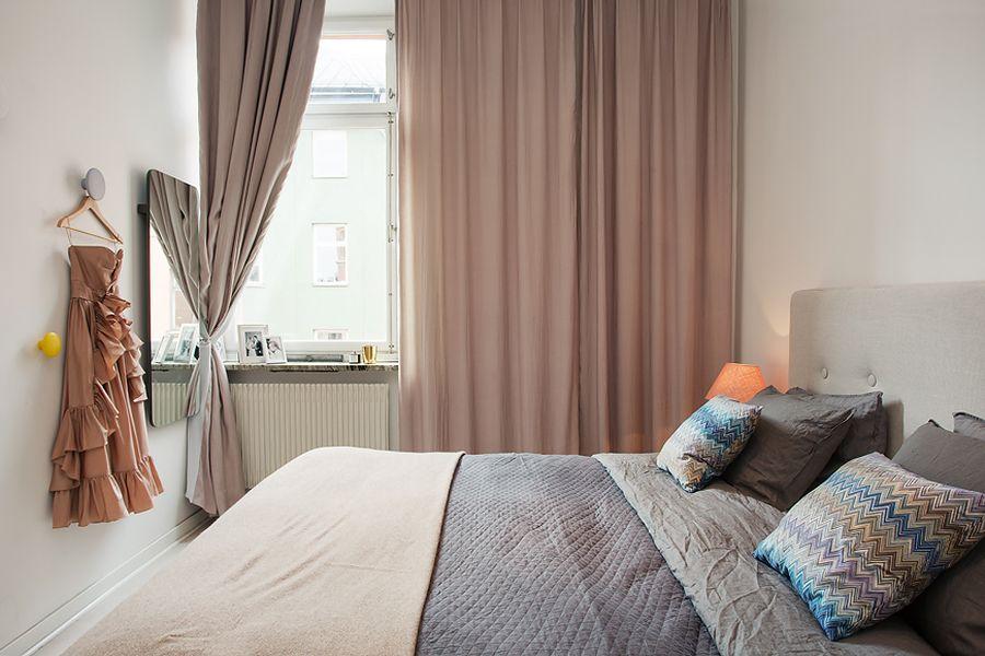 Slaapkamer Inrichting Pinterest : Small Modern Bedroom Curtains