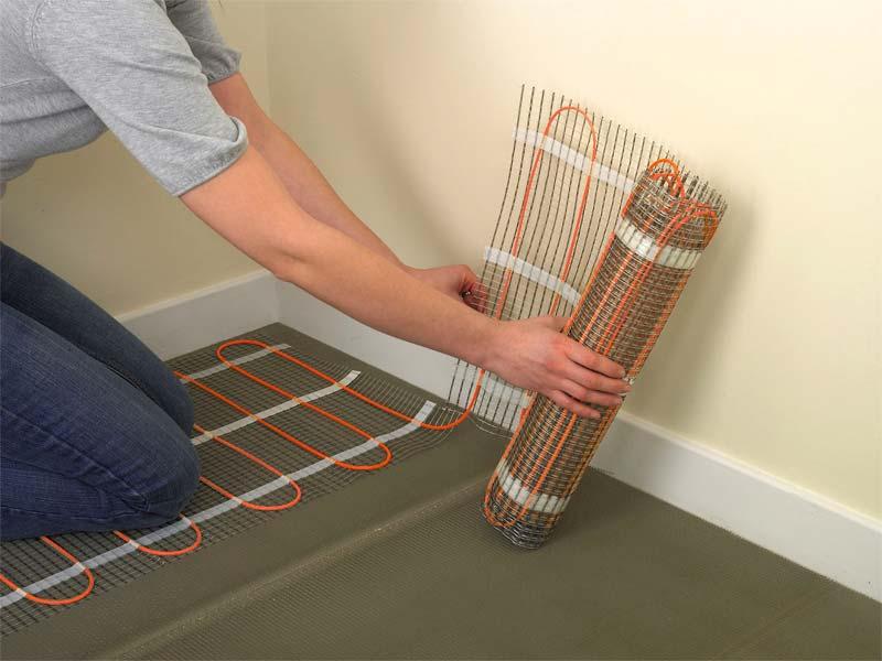 elektrische vloerverwarming installatie