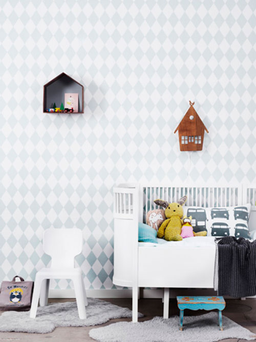 Ferm Living kinderkamer behang