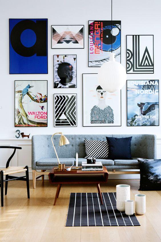 foto collage lijsten muur