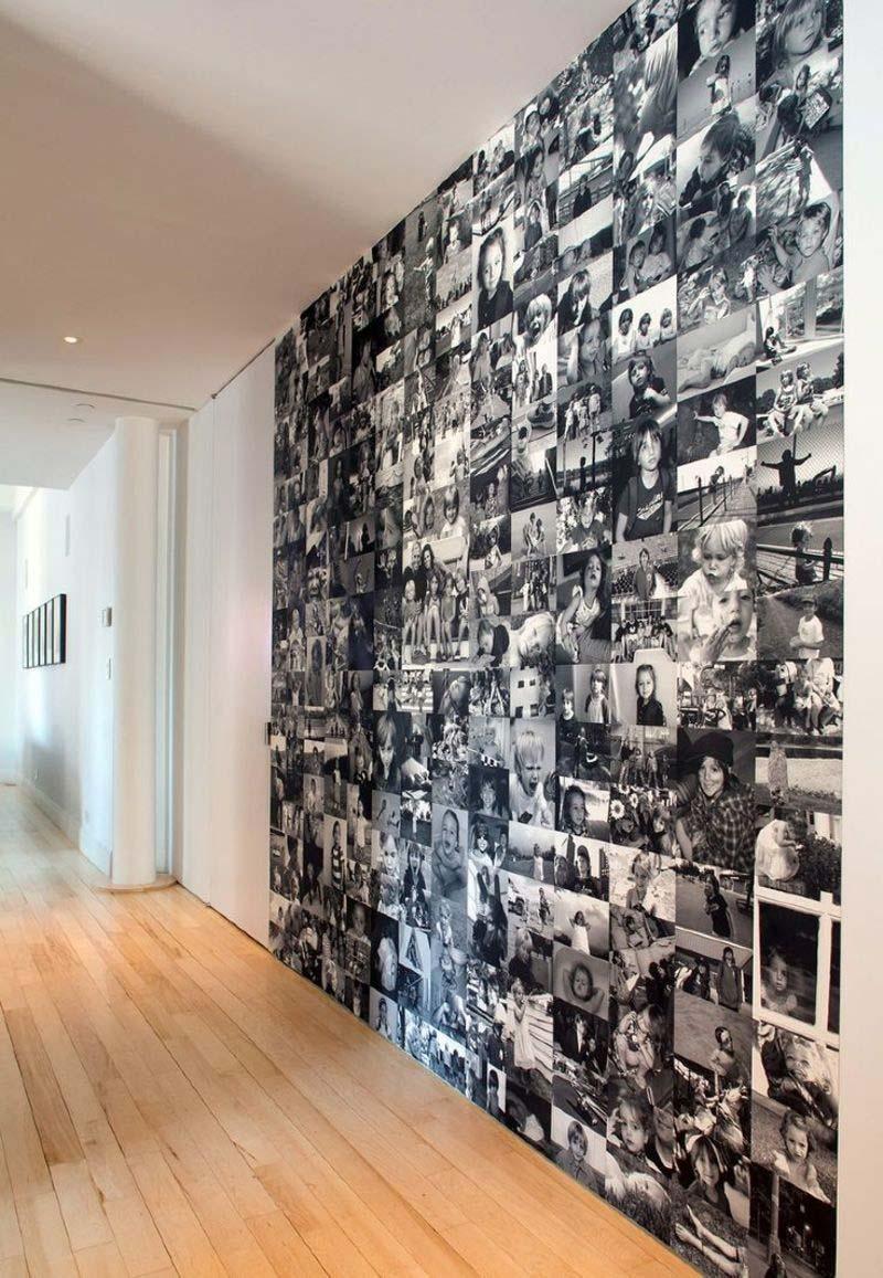 fotowand maken behang