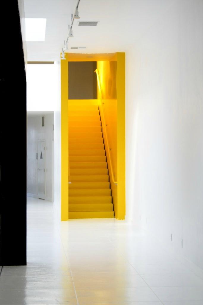 Gekleurde trap
