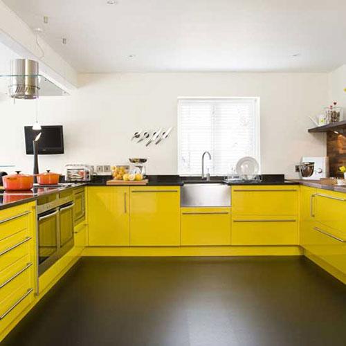 Gele Keukens Interieur Inrichting