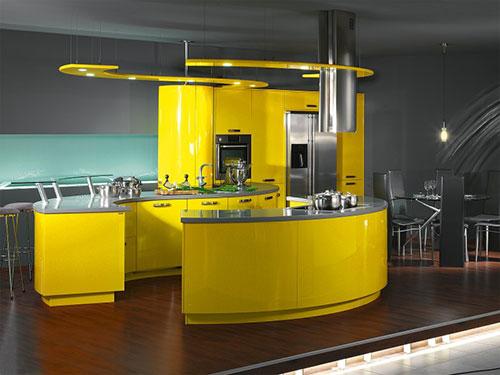 Geel De Keuken : Gele keukens interieur inrichting