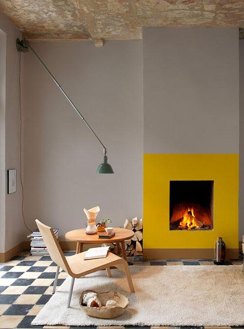 Gele muur | Interieur inrichting