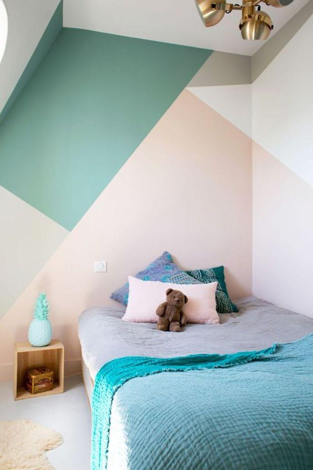 geometrische-vormen-muur-slaapkamer