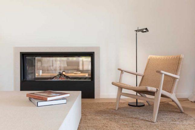 gevlochten houten lounge chair jute vloerkleed