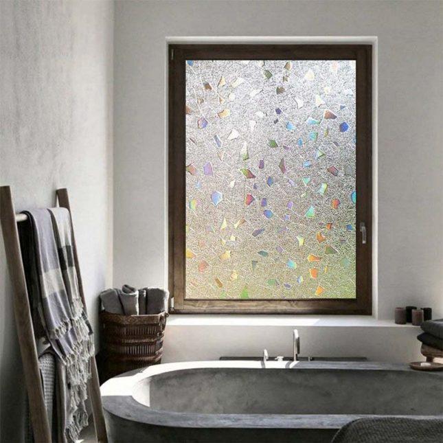gezandstraald raamfolie badkamer