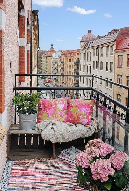 Gezellig zithoekje op balkon