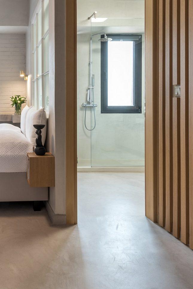 gietvloer slaapkamer badkamer