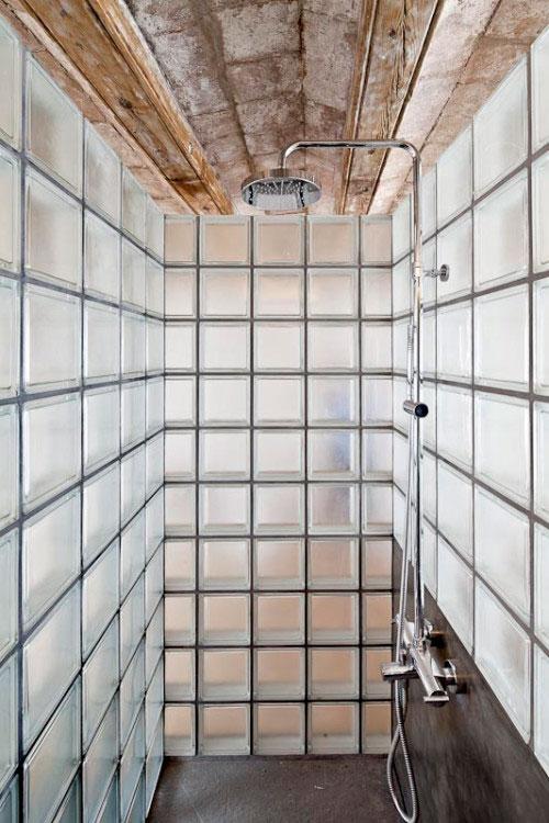 Glazen Muur Badkamer.Glazen Bouwstenen In Badkamer Interieur Inrichting