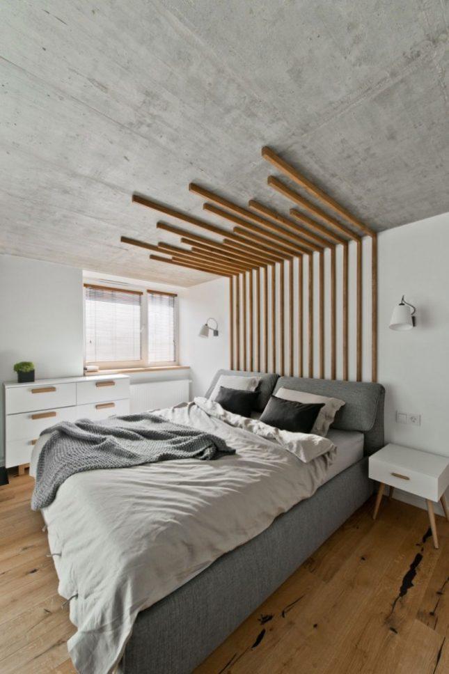 glazen wand in slaapkamer biedt uitzicht op woonkamer  interieur, Meubels Ideeën