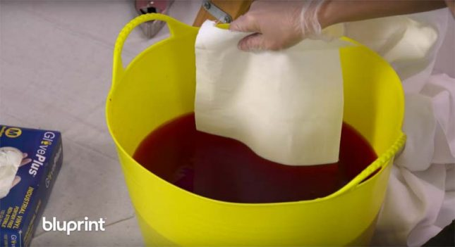 Gordijnen dip dye verven