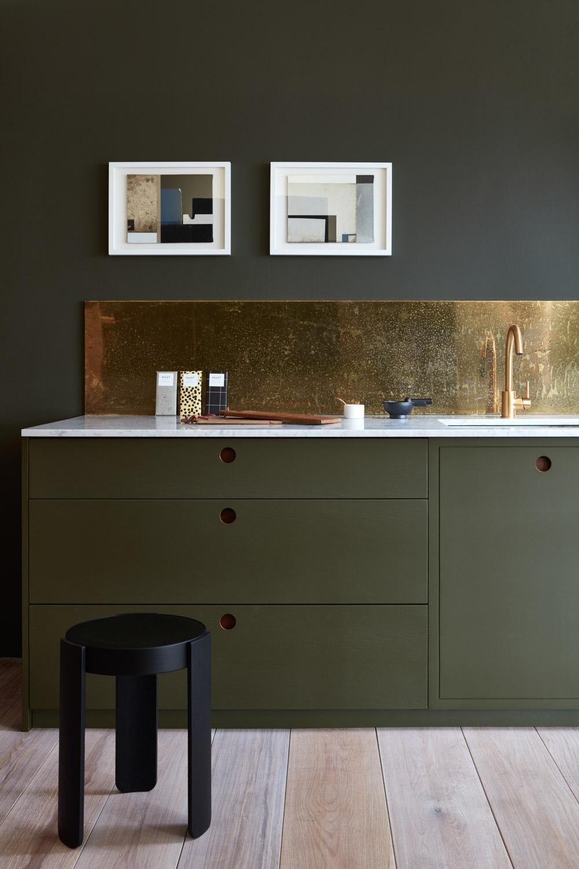 gouden keuken achterwand