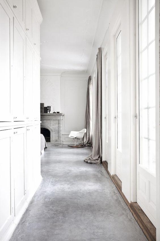 grijs interieur grijze vloer