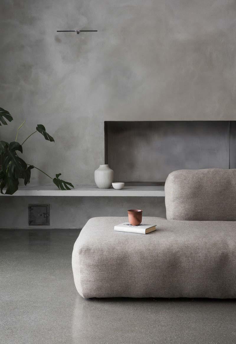 grijze muur betonstuc