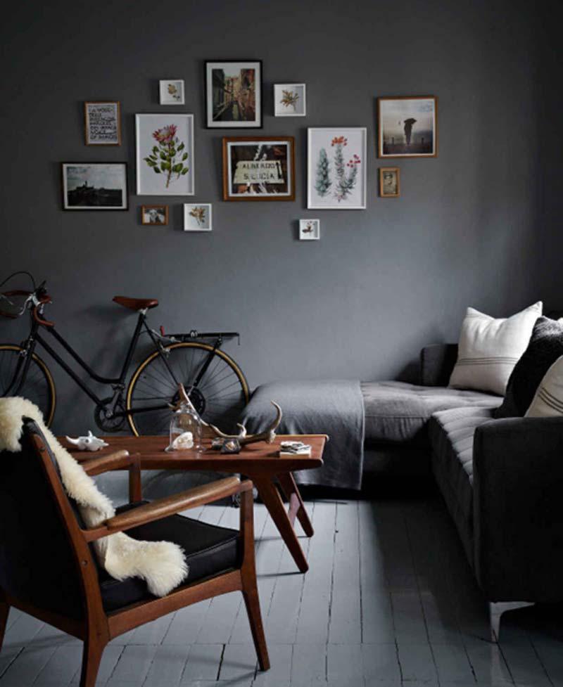 Grijze muur - Charcoal grijs