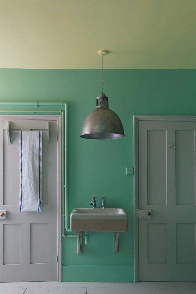 Groene muur Arsenic Farrow & Ball