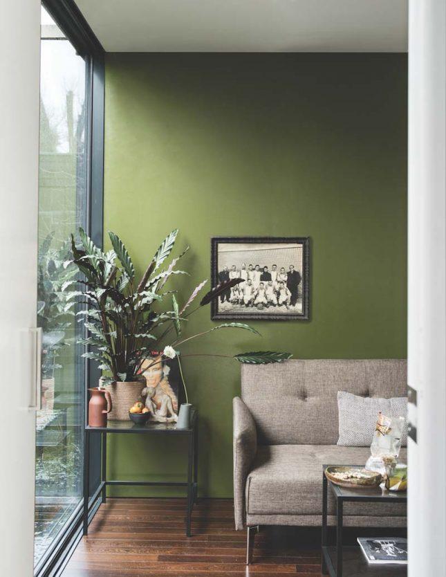 Groene muur Bancha Farrow & Ball