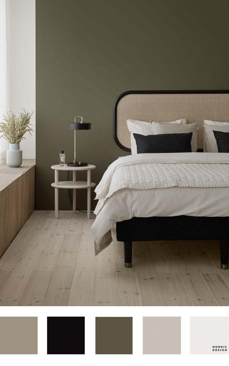 groene slaapkamer combineren