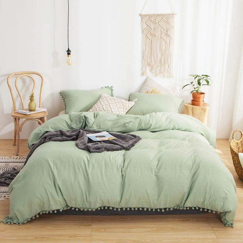 groene slaapkamer dekbedovertrek