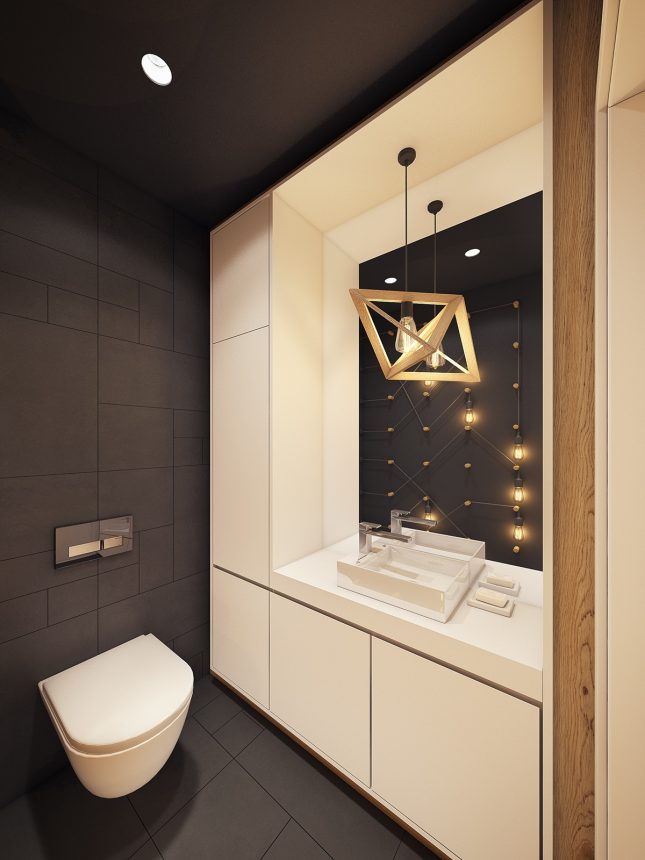 Groot, modern en bijzonder toilet ontwerp