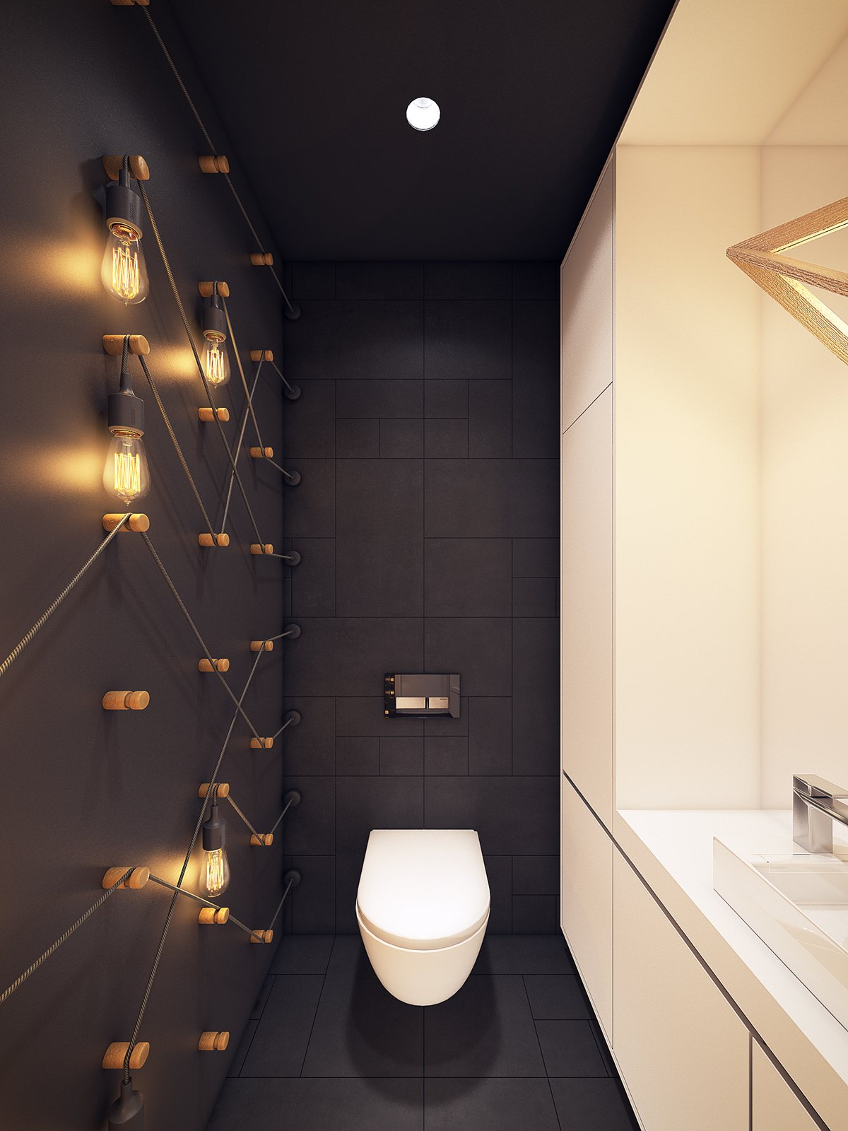 Groot modern en bijzonder toilet ontwerp interieur for Washroom design ideas