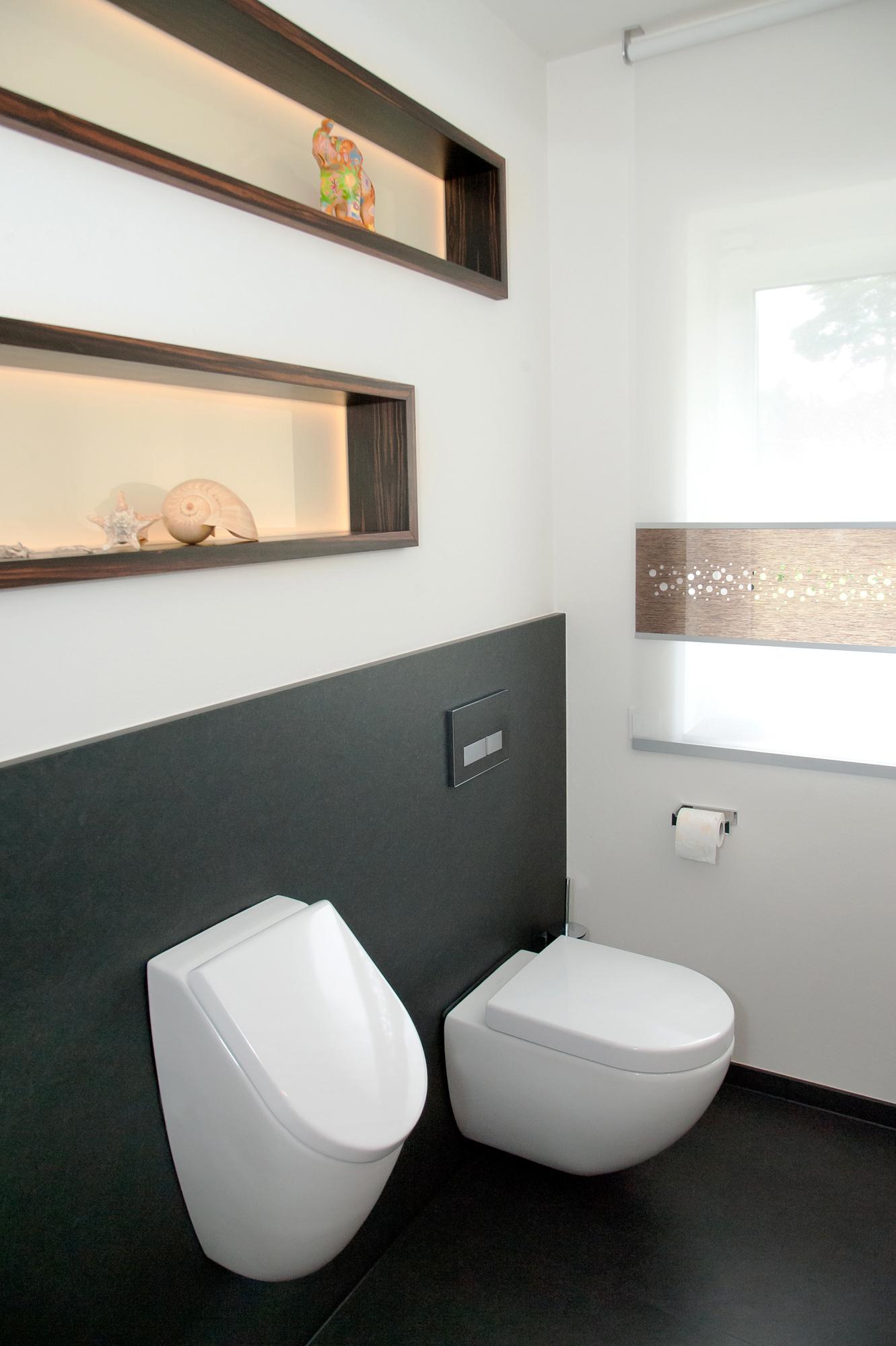 Groot toilet met urinoir!