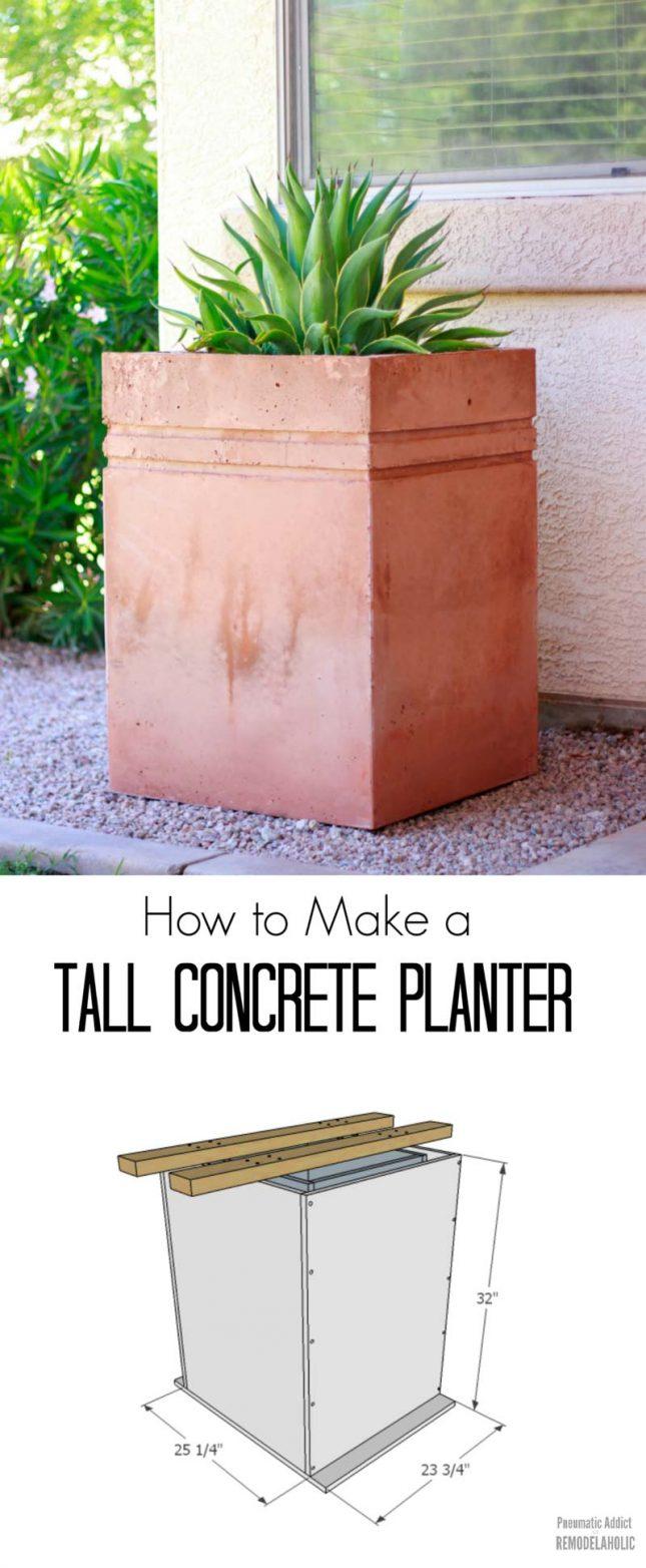 grote betonbak maken