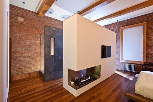 Open Douche In Slaapkamer : Grote loft slaapkamer met open badkamer ...
