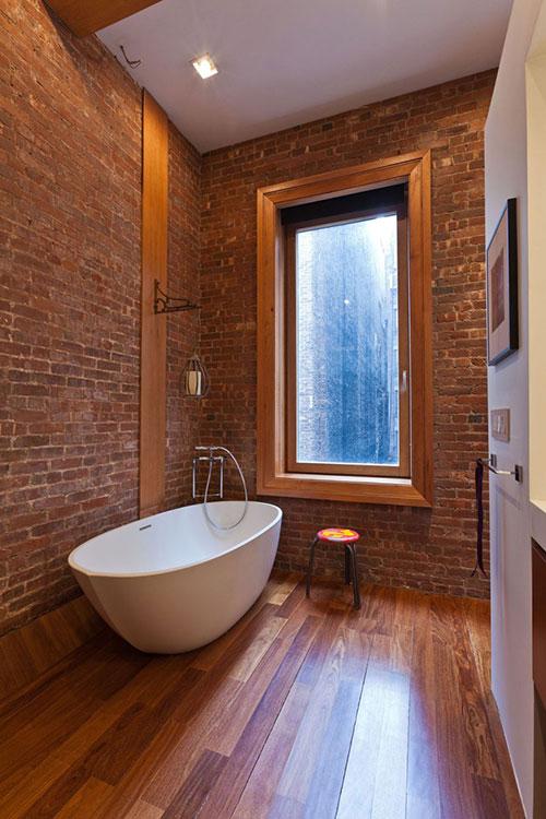 Grote loft slaapkamer met open badkamer interieur inrichting for Badkamer artikelen