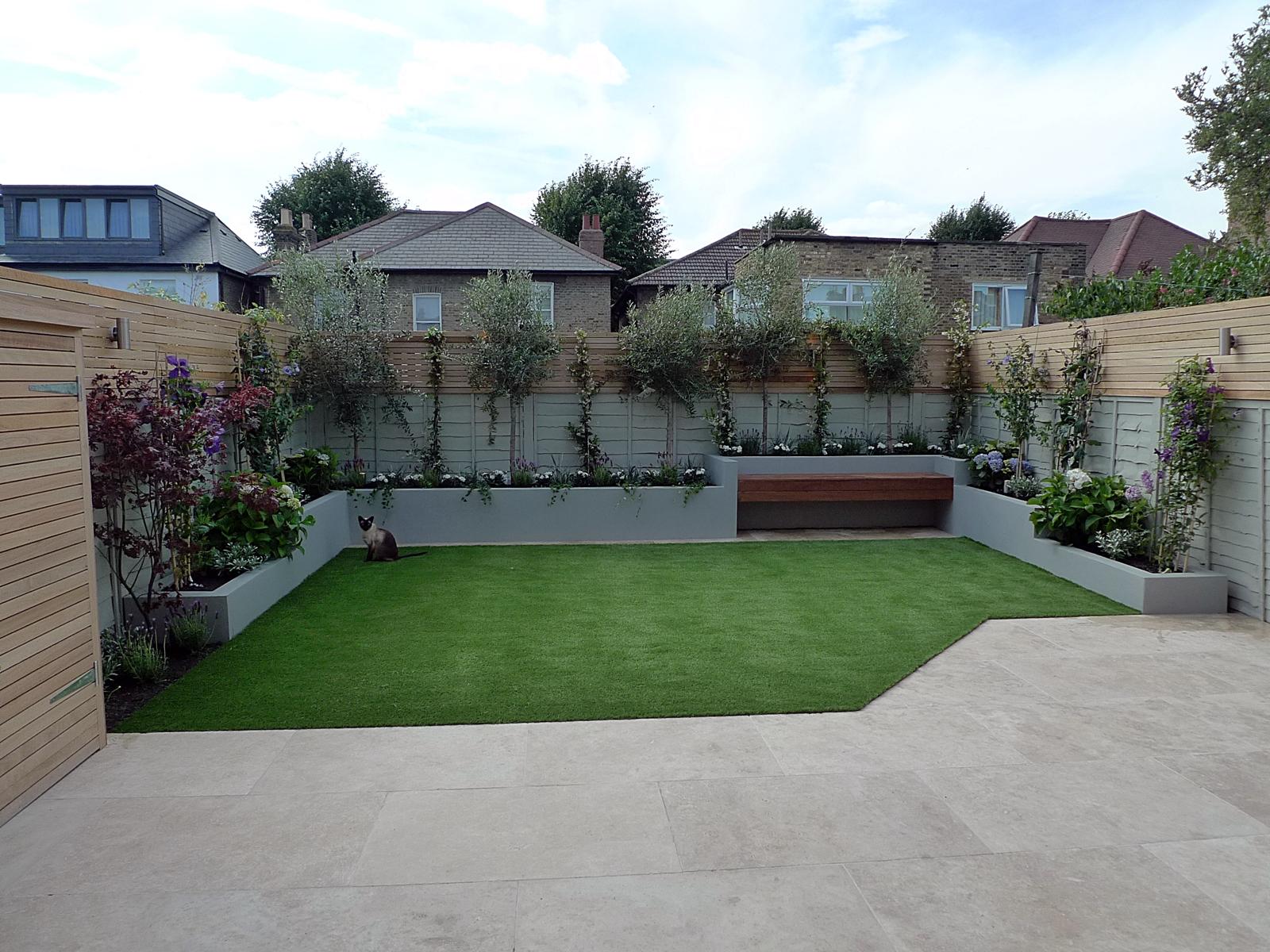 Grote open tuin