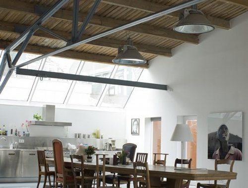 Grote ruimtelijke woonkeuken