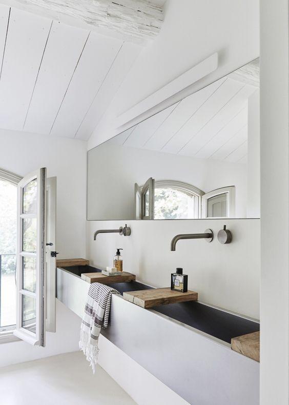 Grote brede badkamerspiegel