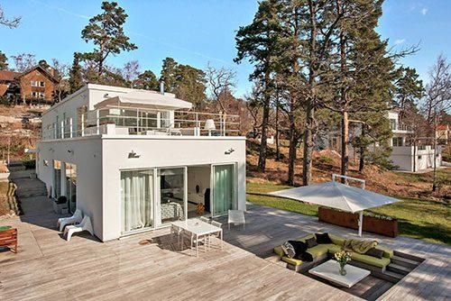 Grote villa tuin in Stockholm
