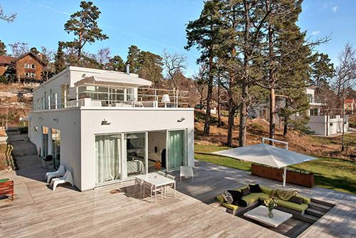 Grote villa tuin in stockholm interieur inrichting