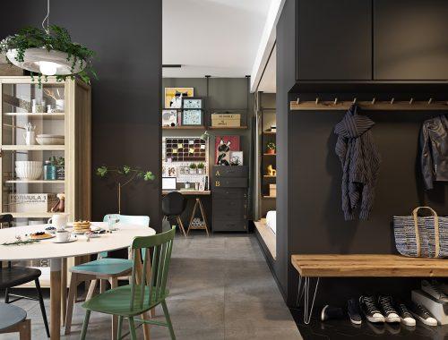 half-open-keuken