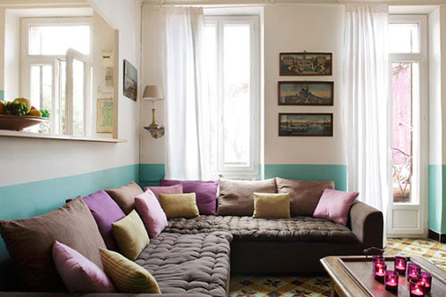 ideeen muur verven woonkamer  consenza for ., Meubels Ideeën
