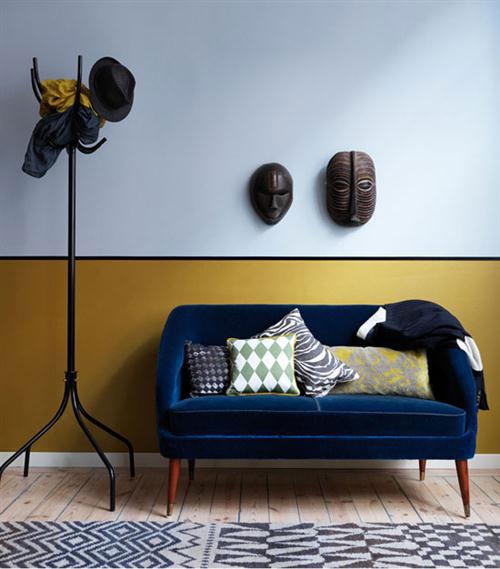 halve muur schilderen in de woonkamer  interieur inrichting, Meubels Ideeën