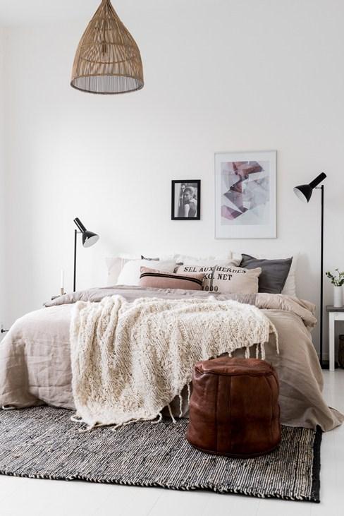 Herfst tinten in een Scandinavische slaapkamer
