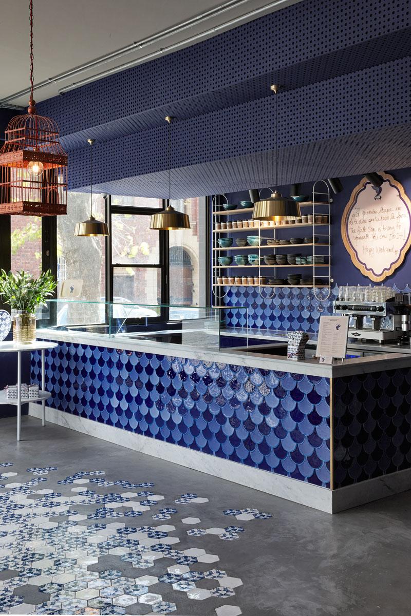 Het mooie Swan Café in Kaapstad