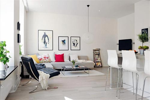 Hoekbank opstelling in de woonkamer interieur inrichting for Decoracion departamento 2 ambientes