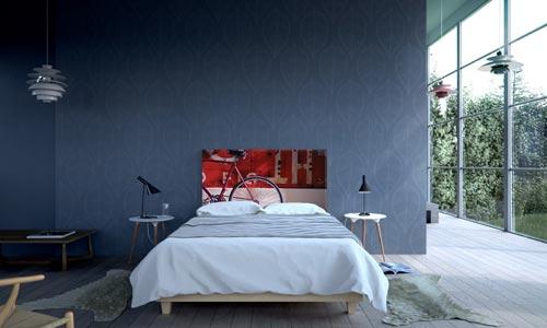 Hoofdeinde als decoratie kunst in de slaapkamer  Interieur inrichting
