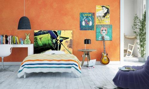 Hoofdeinde als decoratie kunst in de slaapkamer