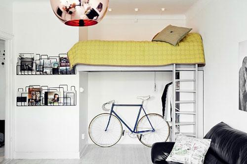 Slaapkamer Ideeen Hoogslaper : Hoogslaper interieur inrichting
