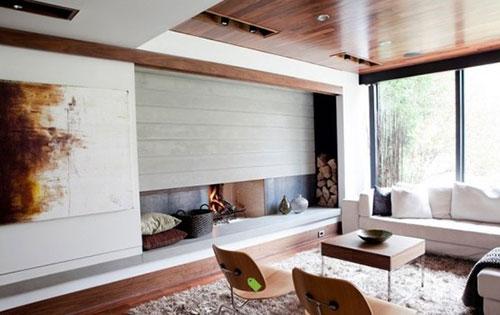 Brandblokken In Interieur : Houtblokken in huis interieur inrichting