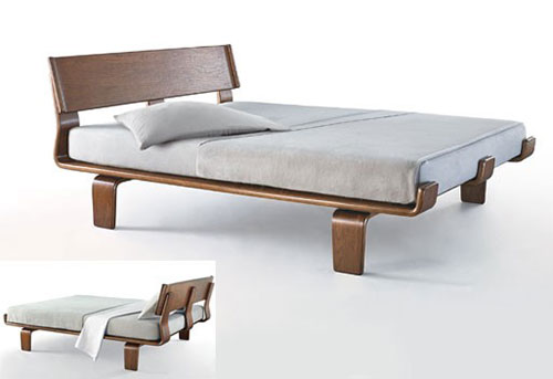 Houten alpine series bed