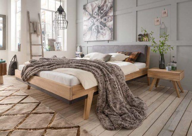 houten bed slaapkamerweb