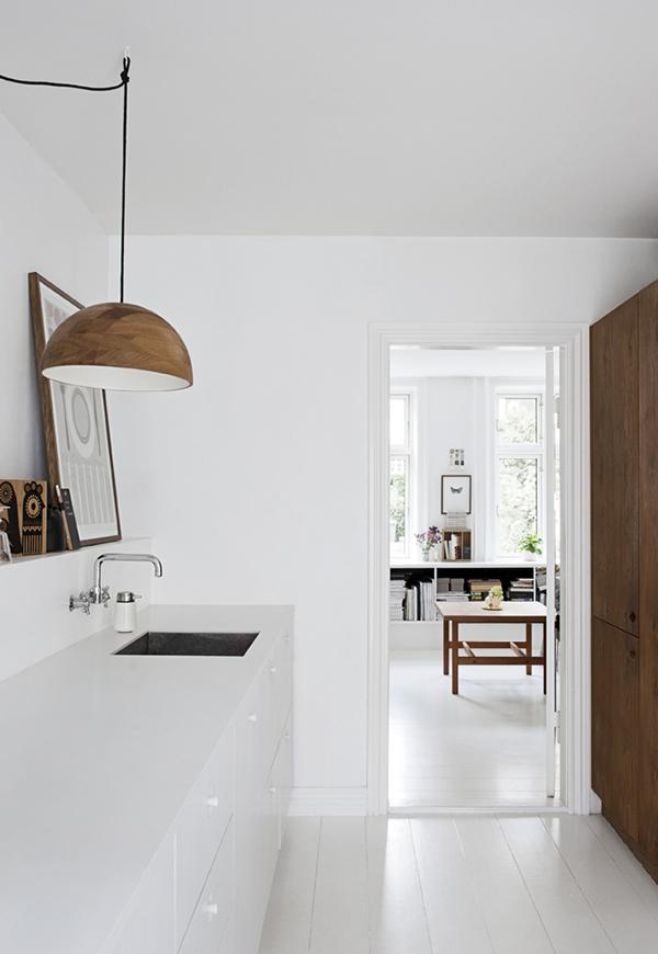 houten hanglamp keuken